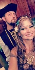 Holloween wedding couple